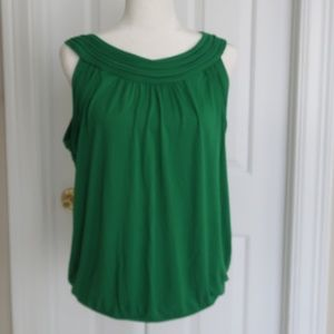 New with Tags Max Studio Green Halter top Shirt XL